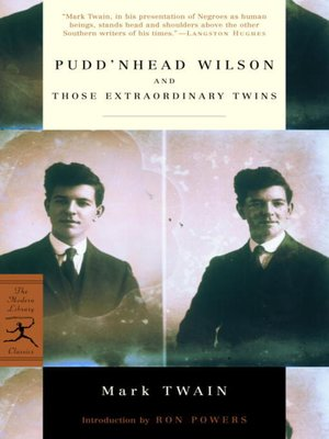 cover image of Pudd'nhead Wilson and Those Extraordinary Twins