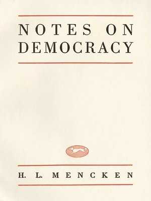 cover image of Notes On Democracy