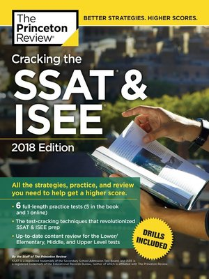 cover image of Cracking the SSAT & ISEE, 2018 Edition