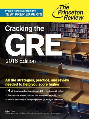 cover image of Cracking the GRE with 4 Practice Tests, 2016 Edition