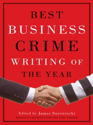 cover image of Best Business Crime Writing of the Year
