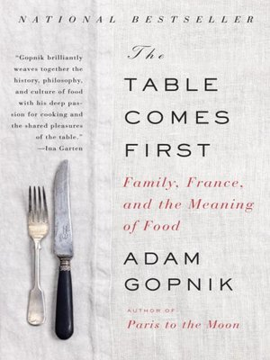cover image of The Table Comes First