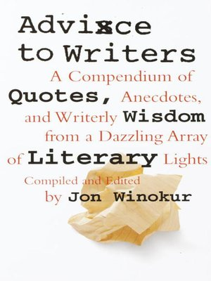 cover image of Advice to Writers