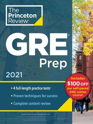 cover image of Princeton Review GRE Prep, 2021