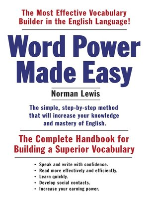 cover image of Word Power Made Easy