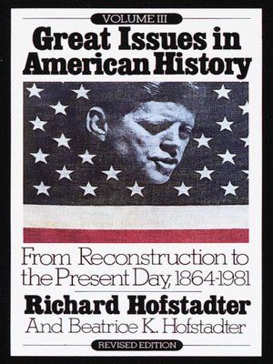 cover image of Great Issues in American History, Volume 3