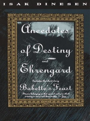 cover image of Anecdotes of Destiny and Ehrengard