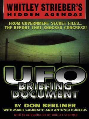 cover image of UFO Briefing Document