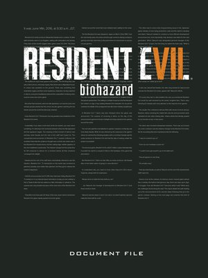 cover image of Resident Evil 7