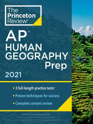 cover image of Princeton Review AP Human Geography Prep, 2021