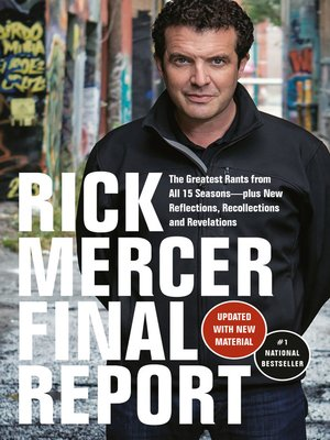 cover image of Rick Mercer Final Report