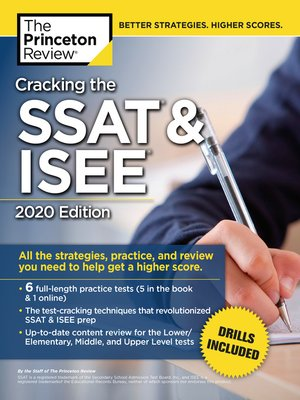 cover image of Cracking the SSAT & ISEE, 2020 Edition