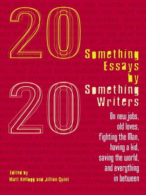 cover image of Twentysomething Essays by Twentysomething Writers