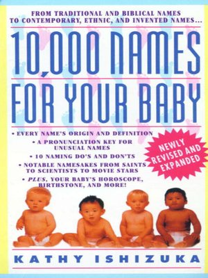 cover image of 10,000 Names for Your Baby