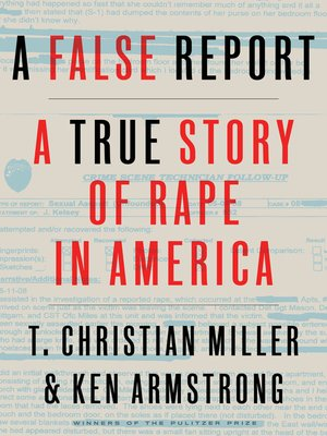 A False Report Book Cover