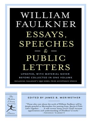 cover image of Essays, Speeches & Public Letters