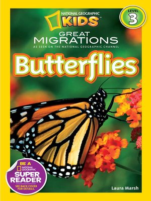 cover image of National Geographic Readers: Great Migrations Butterflies