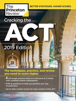 cover image of Cracking the ACT with 6 Practice Tests, 2019 Edition