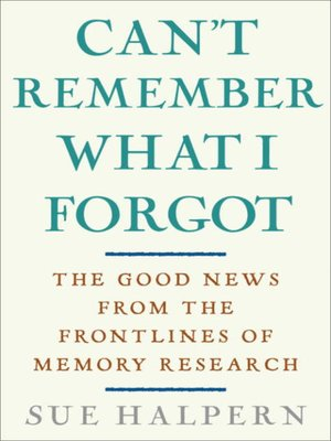 cover image of Can't Remember What I Forgot