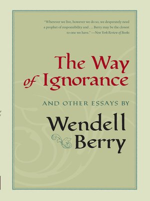 cover image of The Way of Ignorance