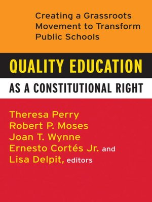 cover image of Quality Education as a Constitutional Right