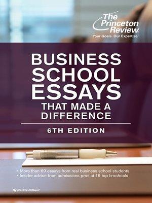 Business school essay books