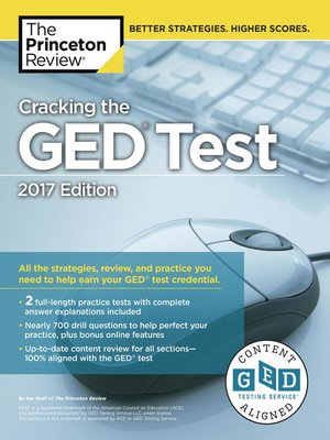 cover image of Cracking the GED Test with 2 Practice Tests, 2017 Edition
