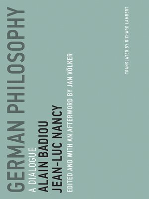 cover image of German Philosophy