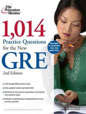 cover image of 1,014 Practice Questions for the New GRE