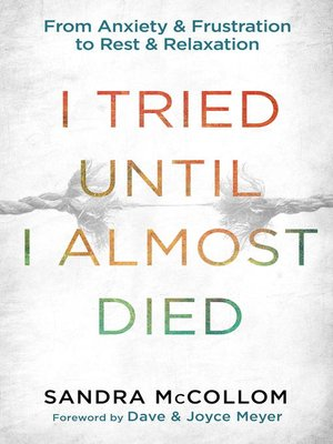 cover image of I Tried Until I Almost Died