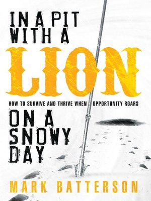 cover image of IN A PIT WITH A LION