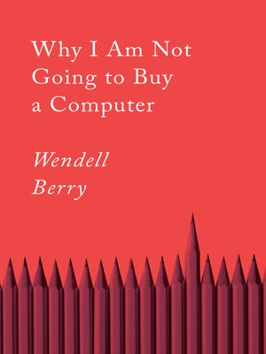 cover image of Why I Am Not Going to Buy a Computer