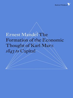 cover image of The Formation of the Economic Thought of Karl Marx