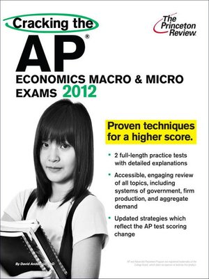 cracking the ap economics macro micro exams 2012. Black Bedroom Furniture Sets. Home Design Ideas