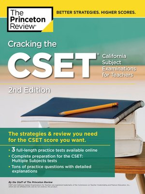 cover image of Cracking the CSET (California Subject Examinations for Teachers)