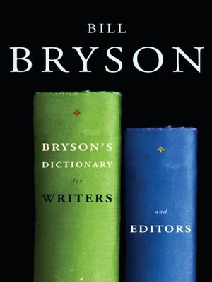 cover image of Bryson's Dictionary for Writers and Editors