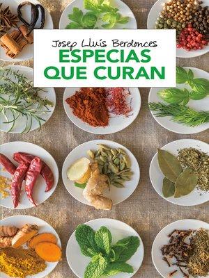 cover image of Especias que curan