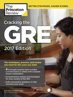 cover image of Cracking the GRE with 4 Practice Tests, 2017 Edition