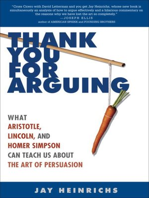 cover image of Thank You for Arguing