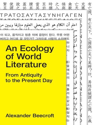 cover image of An Ecology of World Literature