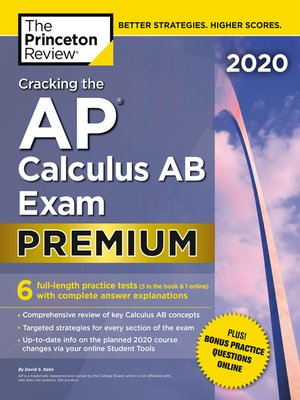 cover image of Cracking the AP Calculus AB Exam 2020, Premium Edition