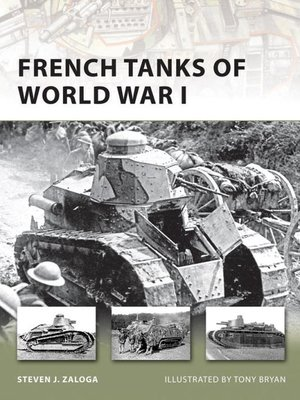 cover image of French Tanks of World War I