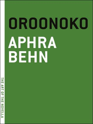 cover image of Oroonoko