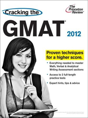 cover image of Cracking the GMAT, 2012 Edition