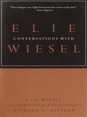 cover image of Conversations with Elie Wiesel