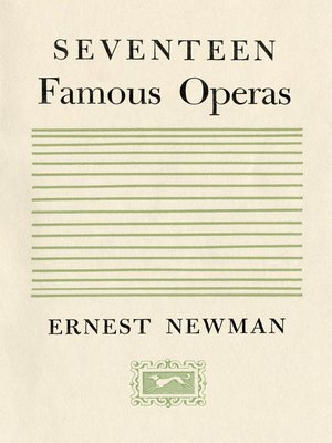 cover image of Seventeen Famous Operas