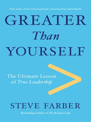 cover image of Greater Than Yourself