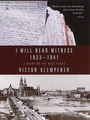 cover image of I Will Bear Witness, Volume 1