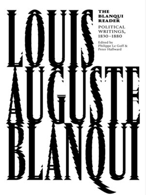 cover image of The Blanqui Reader