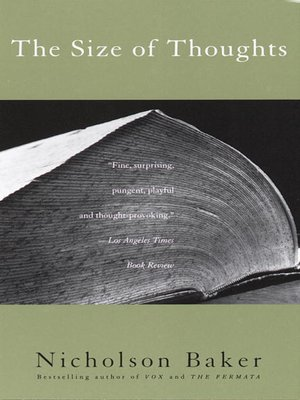 cover image of The Size of Thoughts